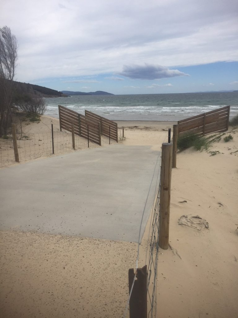 Opening of new beach access at river end of the clubhouse